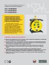Электронный преобразователь частоты и  напряжения с кабельным барабаном  KTU 1/042/200W  KTU 2/042/200W  KTU 2/250/200W