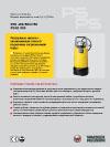 Насосы погружные  Модели переменного тока 0,4  0,75 кВт  PS2 400/500/750  PSA2 500